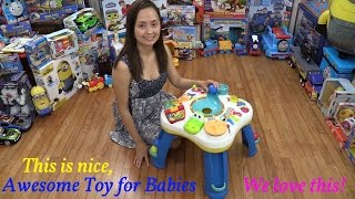 Toys For Babies And Toddlers: Bright Starts' Get Rolling Activity Table Unboxing & Playtime