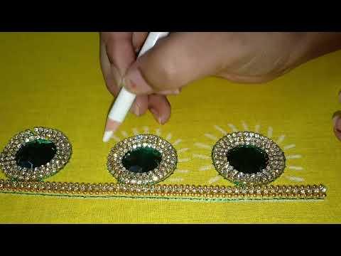 Simple And Elegant Design | Aari Work Designs | Blouse Designs | Maggamwork Design With Normalneedle