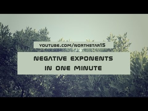 Negative Exponents In One Minute