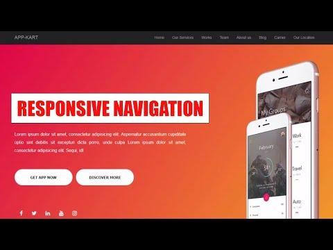 #2 How To Create Responsive Navigation Bar Menus For Website - Html 5 Css 3