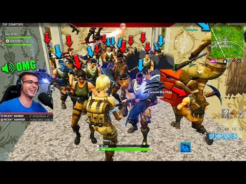 What happens when you try to get 100 players into a house?