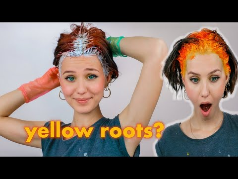 Bleaching & Dyeing my roots YELLOW