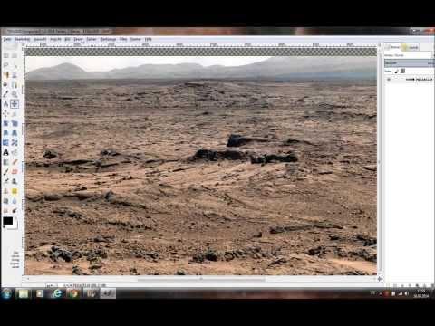 Mars Foto näher angeschaut