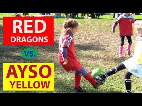 Youth Soccer Game Highlights: Red Dragons Vs AYSO Yellow (2019)