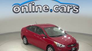 R98803JA Used 2017 Hyundai Accent SE FWD 4D Sedan Red Test Drive, Review, For Sale