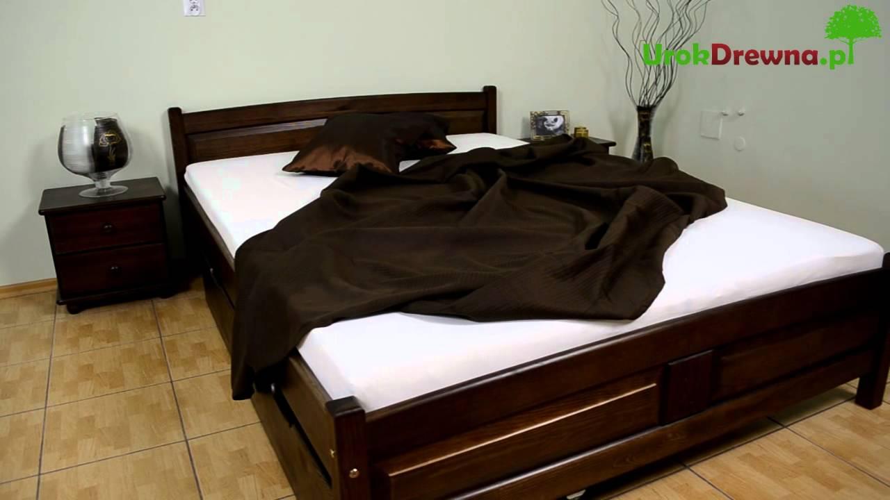 �243żko do sypialni drewniane sosnowe kolor orzechwenge
