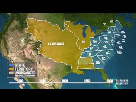 How the borders of the United States have changed in 200 years
