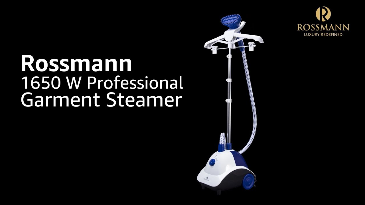 Rossmann Garment Steamer 1650 Watts with Variable Steam Control, 1.6 Liter Water Tank with Glove
