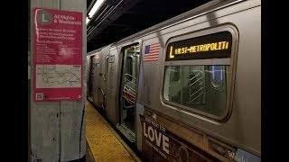 BMT Canarsie Line: R143 (L) Train @ DeKalb Avenue