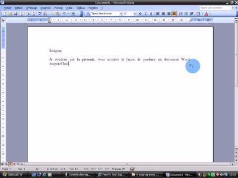 6 Word Créer un document / Écrire une lettre   YouTube