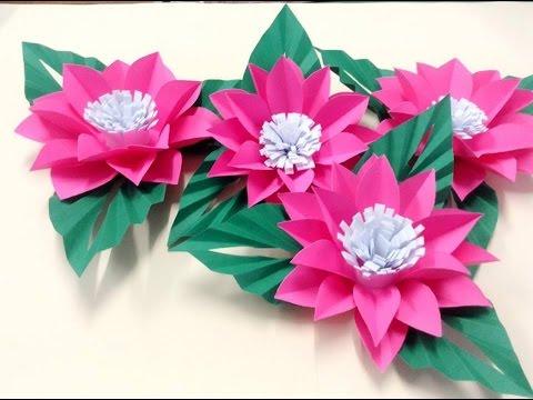 วิธีทำดอกไม้กระดาษติดบอร์ด