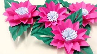 Repeat youtube video วิธีทำดอกไม้กระดาษติดบอร์ด