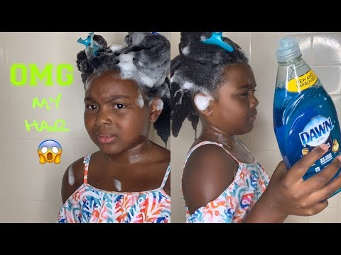 I Used Dawn Dish Soap To Wash My Daughter's 4C Natural Hair