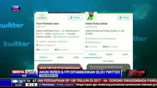 Twitter Suspend Akun Rizieq Dan DPP FPI