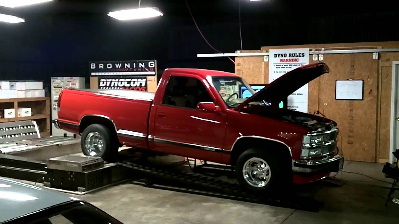 6.2L Swap 95 Single Cab Chevy Truck Browning Tuned - YouTube