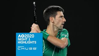 Novak and Barty get their campaigns rolling | Australian Open 2020 Day 1