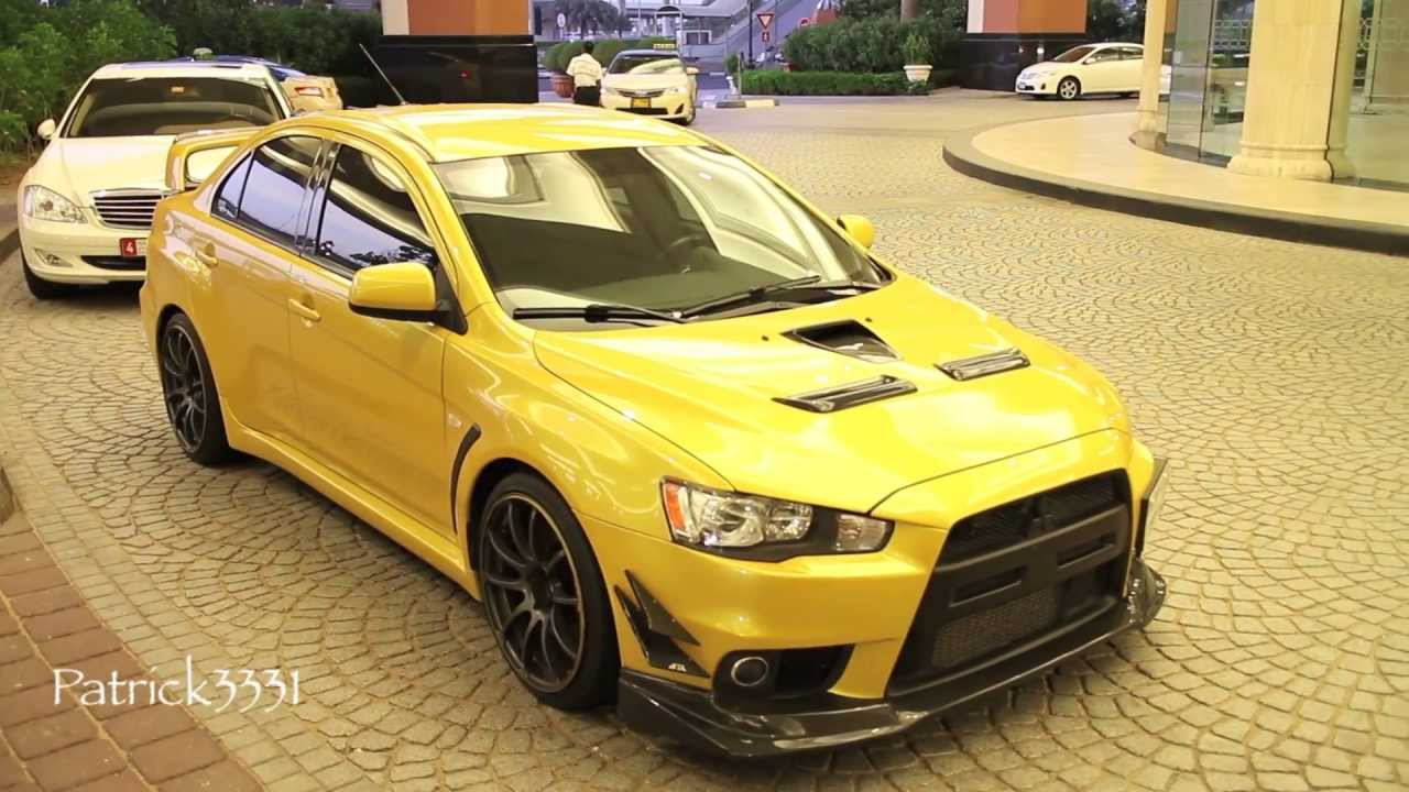 mitsubishi lancer evo x rs custom look youtube