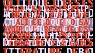 Générique LE GAI SAVOIR / Graphisme pierre-jean Canac