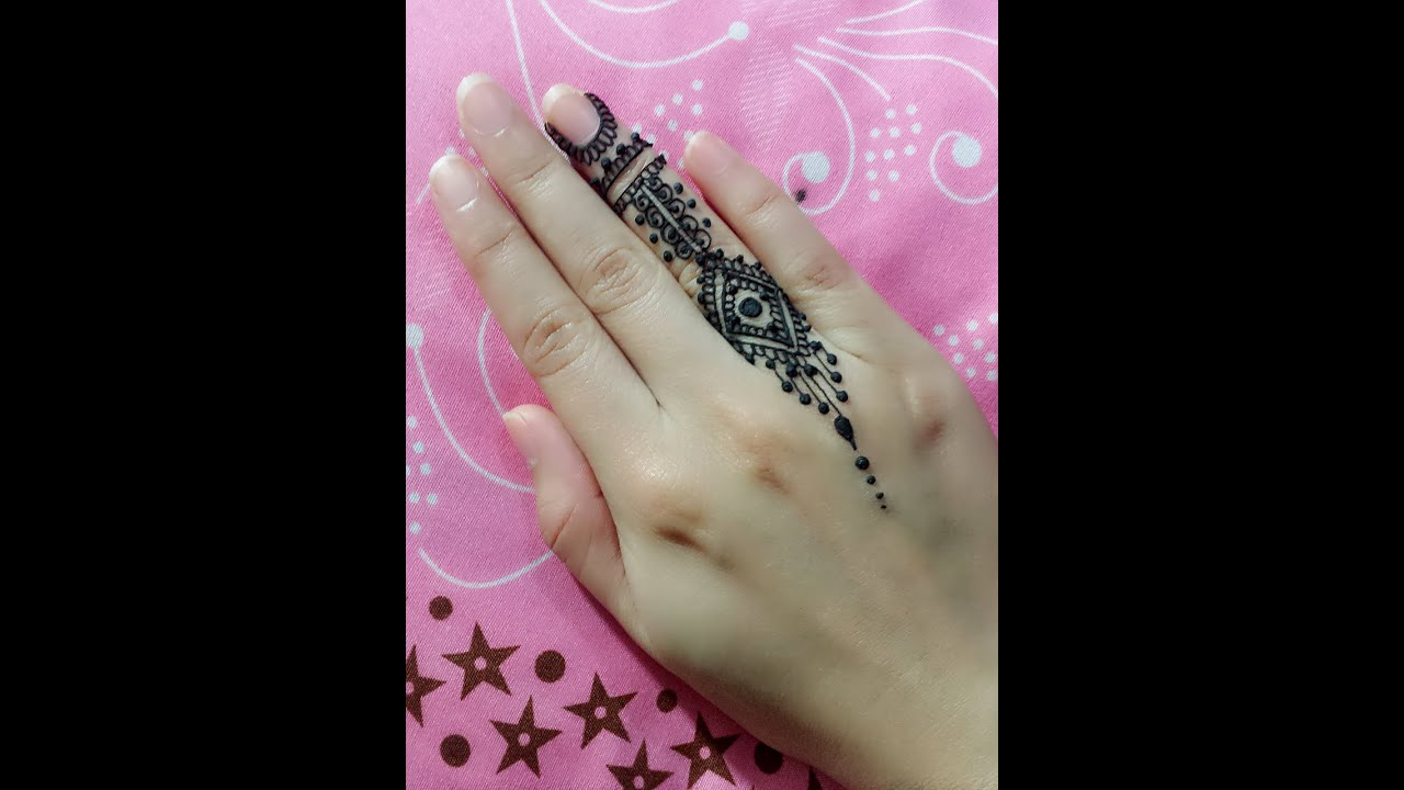 Little Henna Tattoos: Small Mehndi Design For Finger Tutorial -Jagua Henna