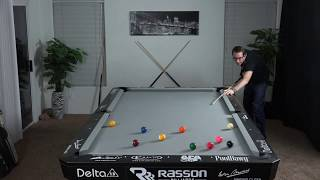 9 Ball Break & Run with live insights and commentary-- Venom Trickshots