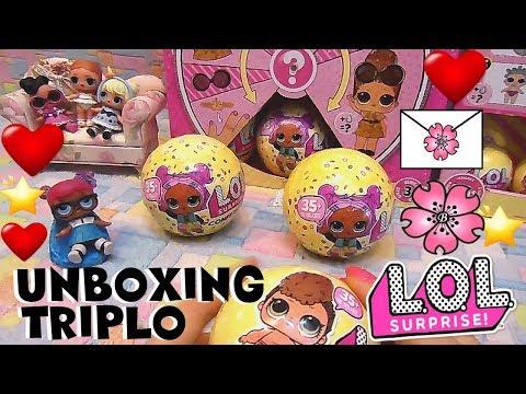 LOL SURPRISE #82 Triplo Unboxing serie 3. Troveremo una DOPPIA? By Lara e Babou