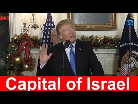 BREAKING NEWS: President Trump Declares Jerusalem as Capital of Israel 12/6/2017 Trump Speech