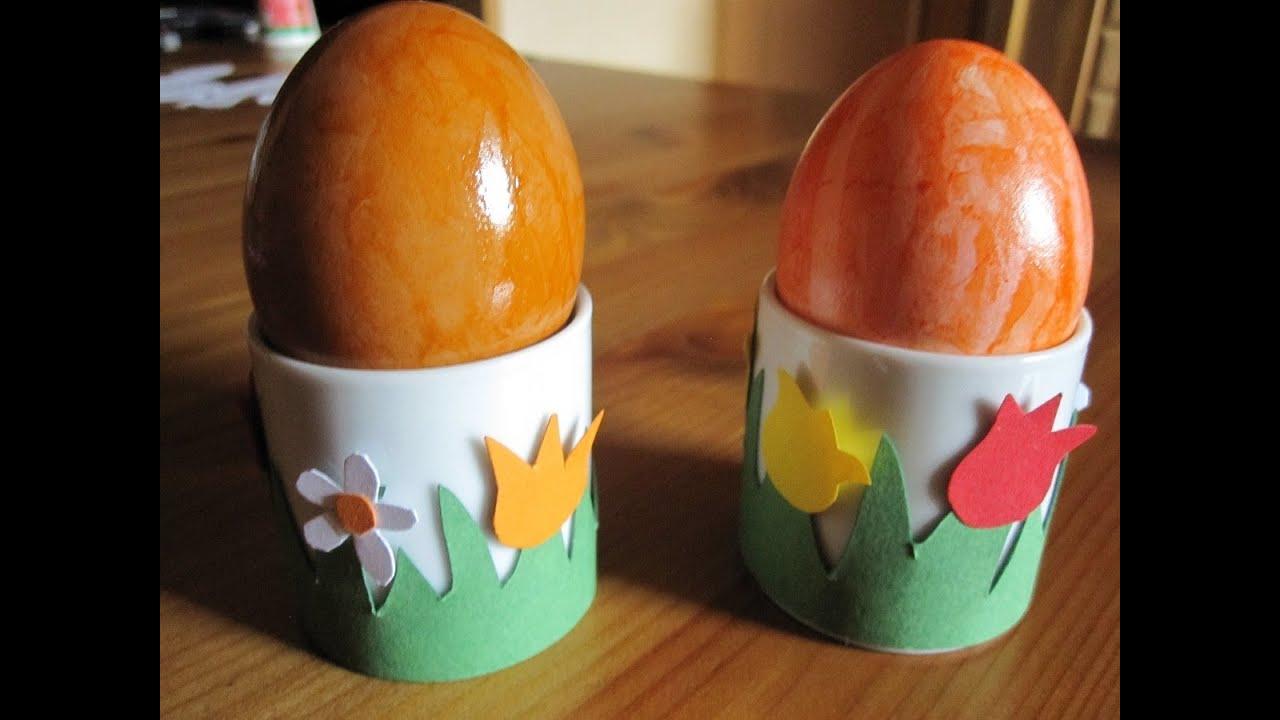 OSTERBASTELN: Deko Für Eierbecher Aus Papier Basteln
