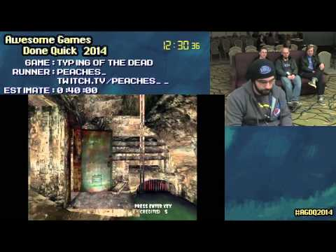 The Typing of The Dead :: Live SPEED RUN (0:33:03) by PEACHES_ #AGDQ 2014