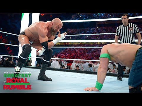 "Triple H mocks the Cenation with ""You can't see me"" hand gesture: Greatest Royal Rumble"