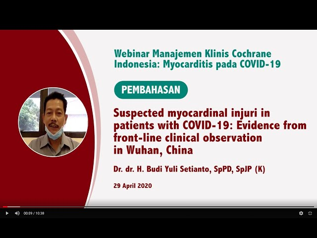 Pembahasan Suspected myocardinal injuri in patients with COVID 19  Evidence from  front line clinica