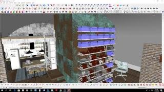 SketchUp. Налаштування матеріалів. Текстурування рельєфу. Візуалізація. Марафон частина 3