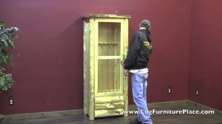 Cedar Lake Rustic Gun Cabinet From Logfurnitureplace.com