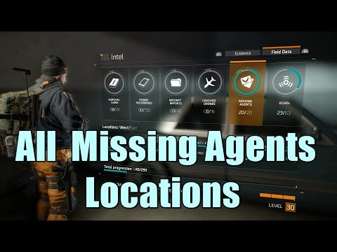 The Division All Missing Agents Locations l Intel Collectibles - The Finder Trophy / Achievement