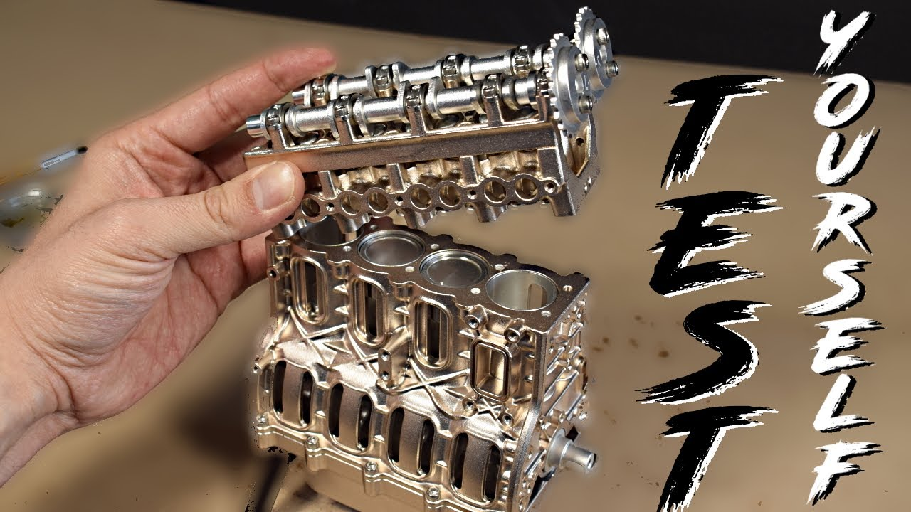 RELAX and TEST your KNOWLEDGE with this MINI ENGINE - QUIZ + ASMR