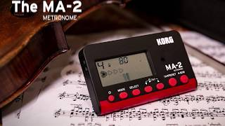 Now even easier to see and hear. The MA-2 is the new must-have metronome for orchestral instruments.