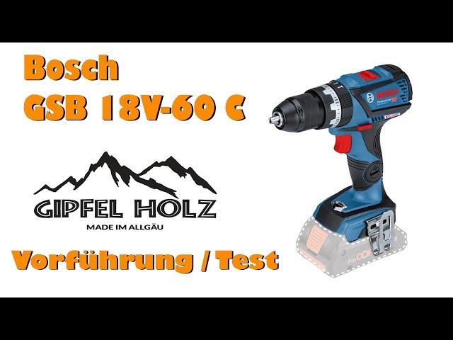 Bosch GSB 18V 60 C mit ProCore | Vorstellung und Erfahrungen
