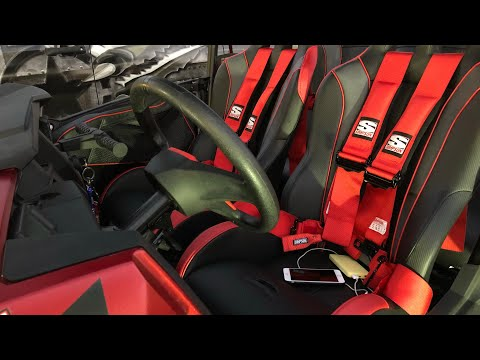 Simpson Vortex Seats And Rear Bench Seat Install With Harness Utv Rzr 4 Turbo Youtube