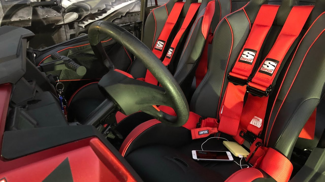 Simpson Vortex Seats And Rear Bench Seat Install With Harness