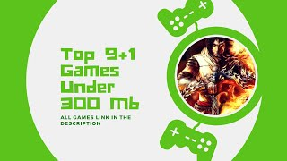 Top 9 PC Games Under 300MB + 1 Bonus Games (All Games Link In The Description)