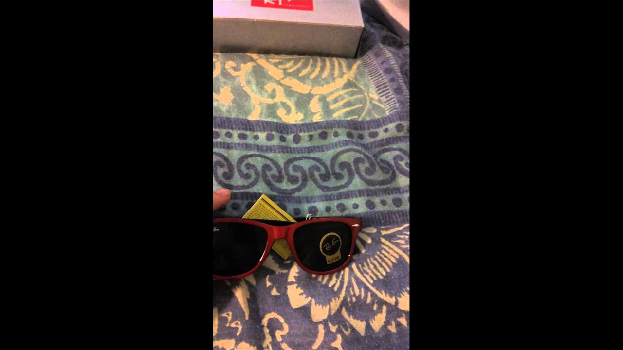 865d378be8 Ray Ban wayfarer from ioffer - YouTube