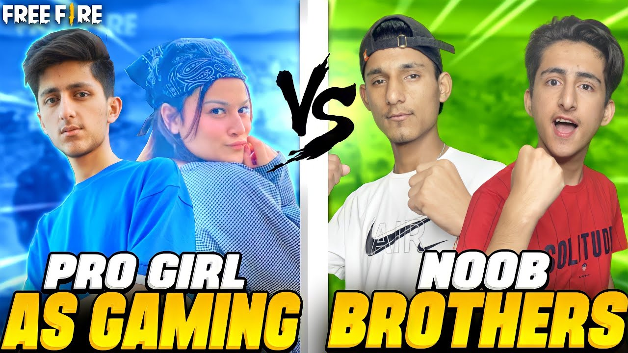 As Gaming Playing With Girl And Friends vs Subscribers And Noob brother In Garena Free Fire
