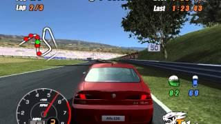 Alfa Romeo Racing Italiano PS2, alfa romeu correndo nas pistas