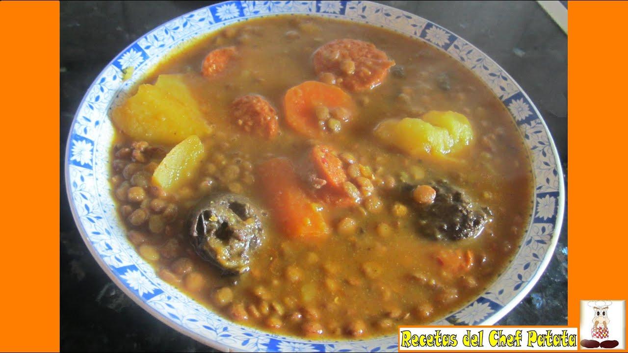 Receta de lentejas con chorizo de la abuela recetas del - Lentejas con costillas y patatas ...