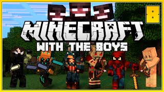 Minecraft With The Boys! #8 - An Avengers Level Threat! - Minecraft Survival Series!