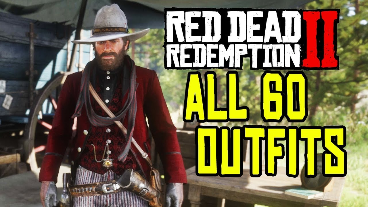 red dead redemption 2 all 60 outfits