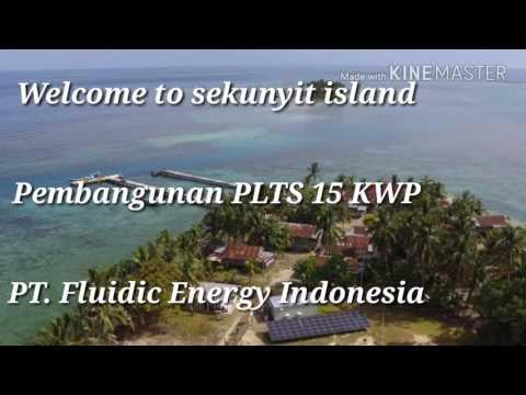PLTS pulau sekunyit 15 kwp, PT.Fluidic Energy Indonesia