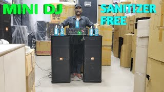 BHARAT ELECTRONICS BEST DJ SYSTEM MINI DJ PRICE-15500 FREE SANITIZER