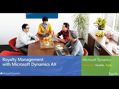 Royalty Management with Microsoft Dynamics AX