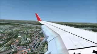 FSX Austrian Airlines 737-800 Landing at Vienna Airport ILSX 11