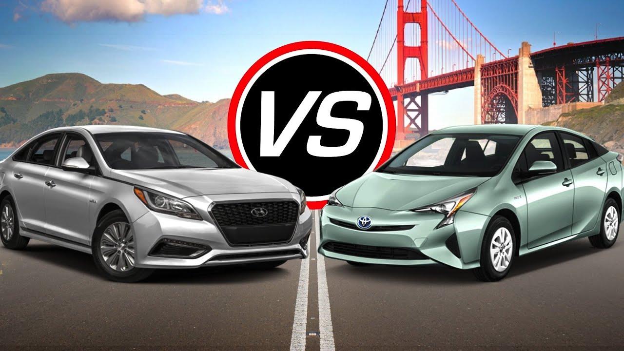 2016 Hyundai Sonata Hybrid Vs Toyota Prius Spec Comparison